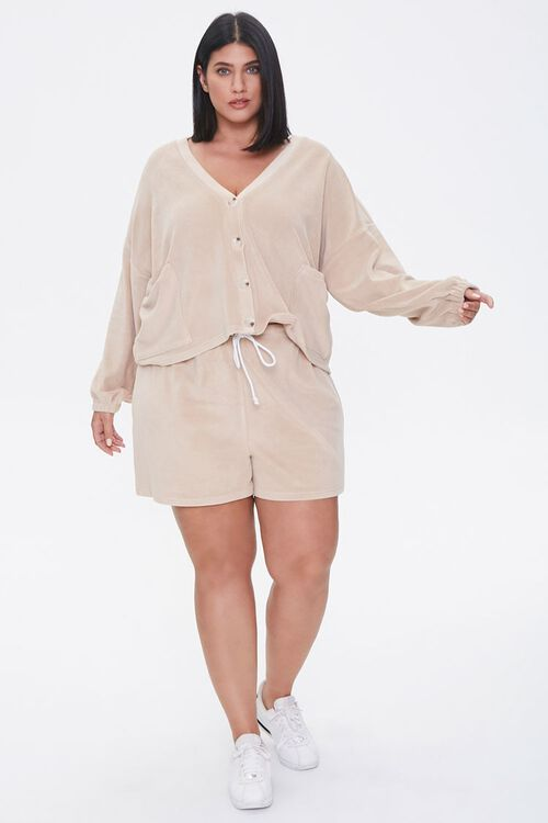 Plus Size Cardigan & Shorts Set, image 4