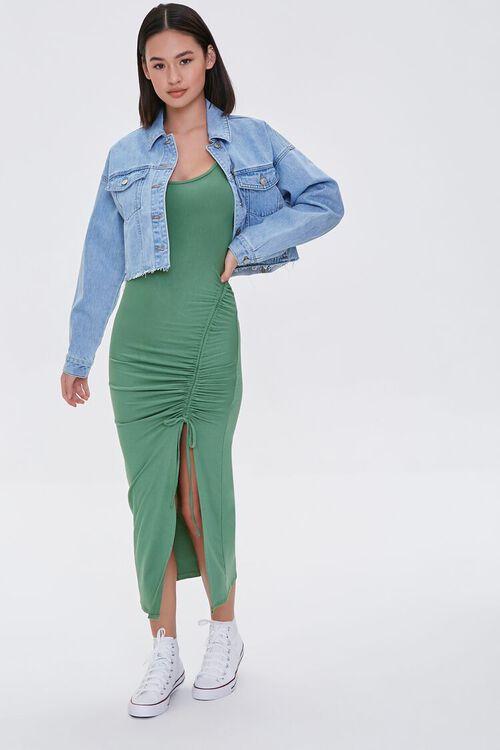 Ruched Drawstring Midi Dress, image 4