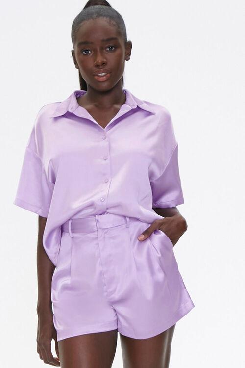 Satin Shirt & Shorts Set, image 1