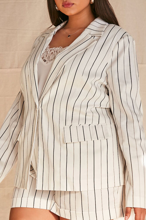 Plus Size Pinstriped Blazer, image 5