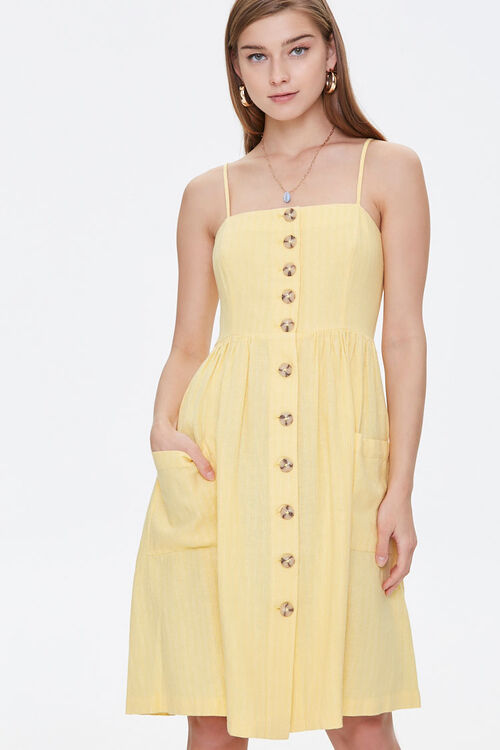 Button-Front Cami Dress, image 1