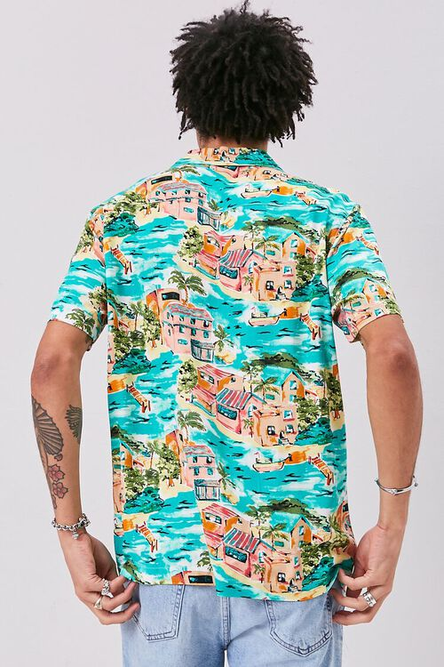 Classic Fit Tropical Print Shirt, image 3