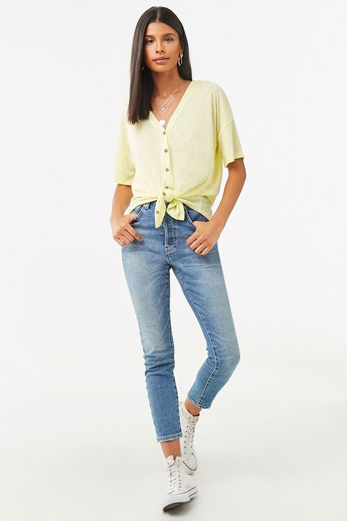 V-Neck Button-Front Top, image 4