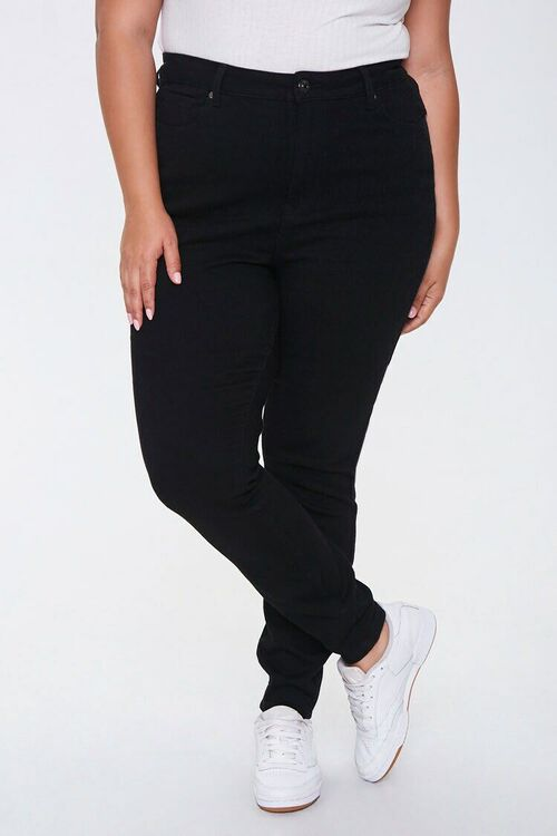Plus Size High-Rise Skinny Jeans, image 2