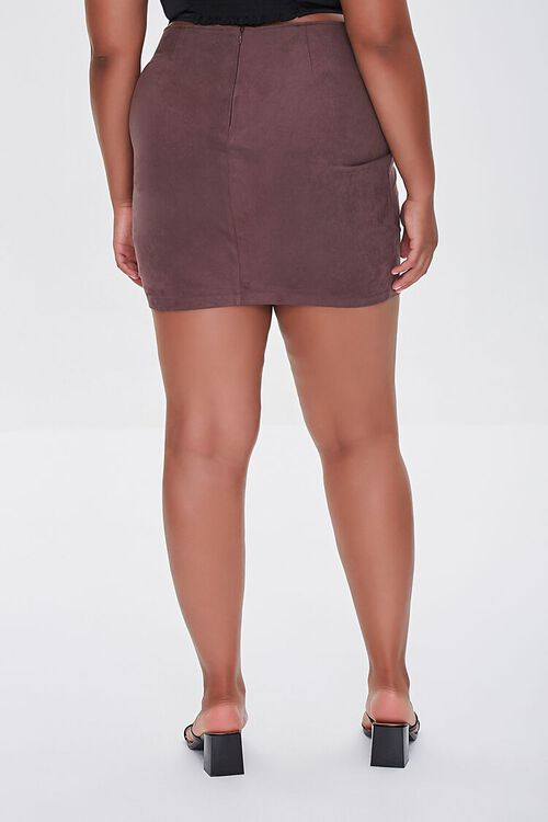 CHOCOLATE Plus Size Tulip Mini Skirt, image 4
