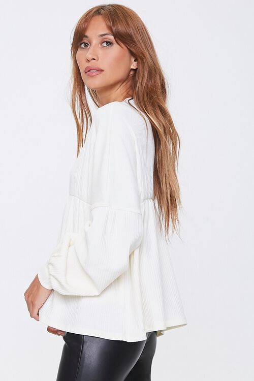Ribbed Bell-Sleeve Top, image 2