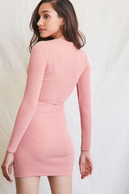 ROSE Ribbed Mini Dress & Crop Top Set, image 3