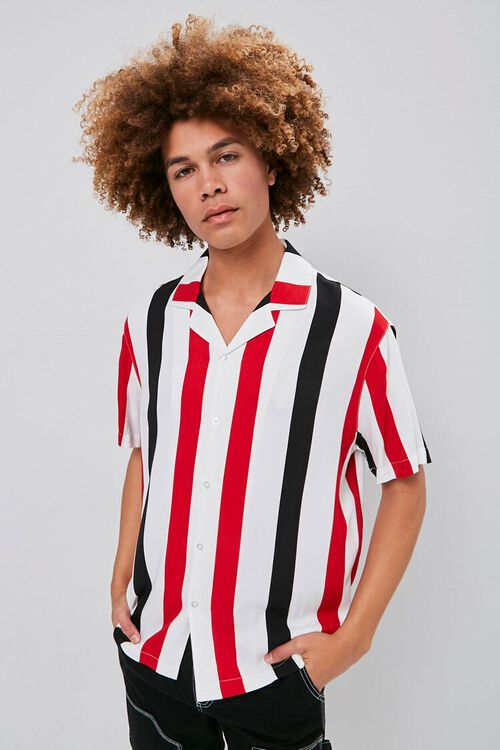 Classic Fit Vertical Striped Shirt, image 1