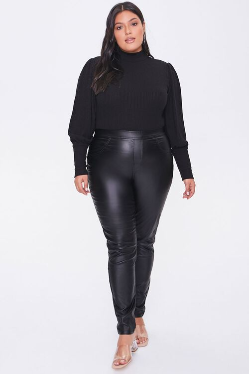 Plus Size Balloon-Sleeve Bodysuit, image 4