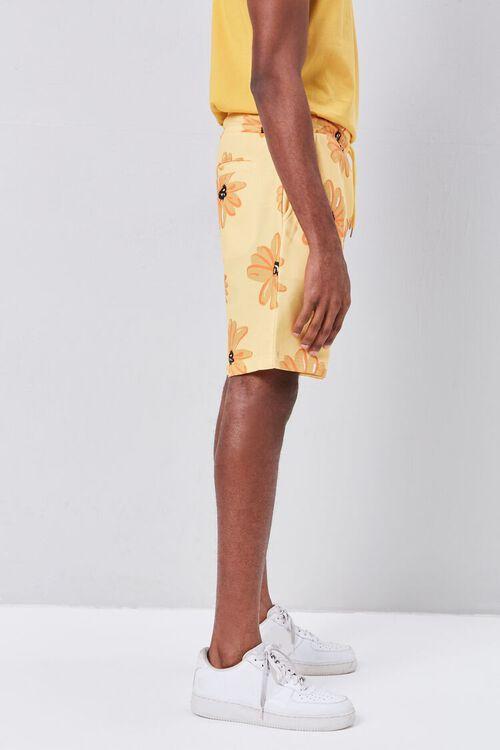 Floral Print Drawstring Shorts, image 3