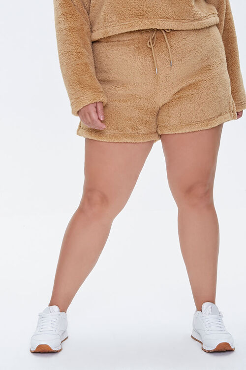 Plus Size Fuzzy Shorts, image 2
