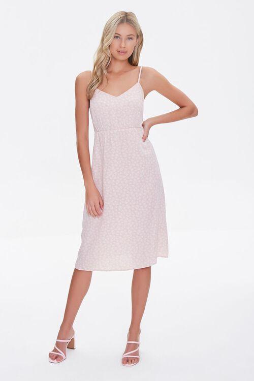 Leaf Print Tie-Back Dress, image 4