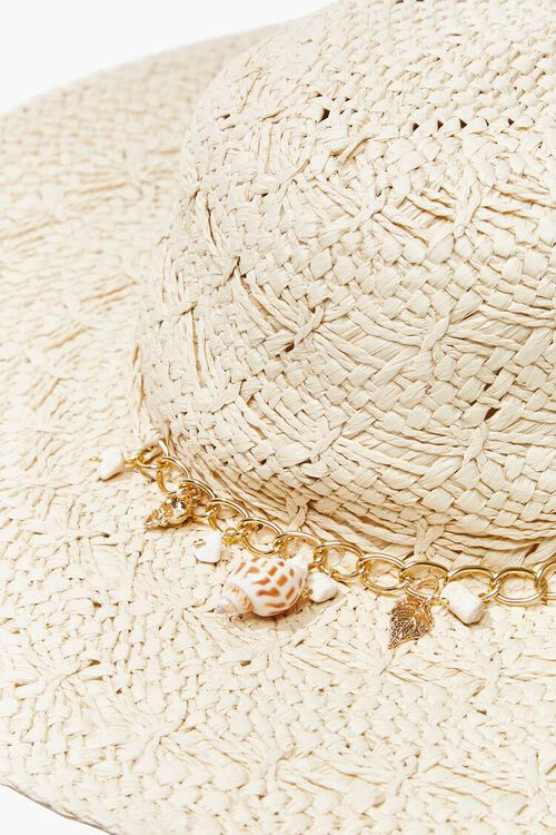 Seashell Charm Straw Hat, image 4