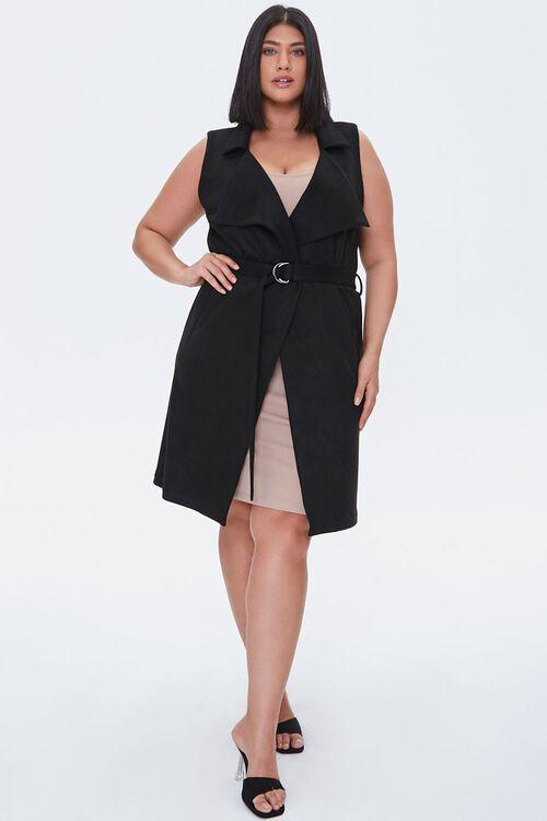 Plus Size Belted Duster Vest, image 4