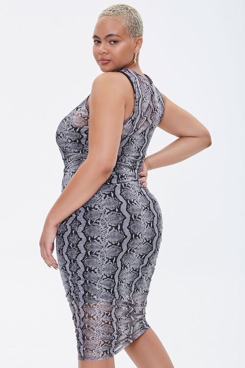 Plus Size Snake Print Dress, image 3