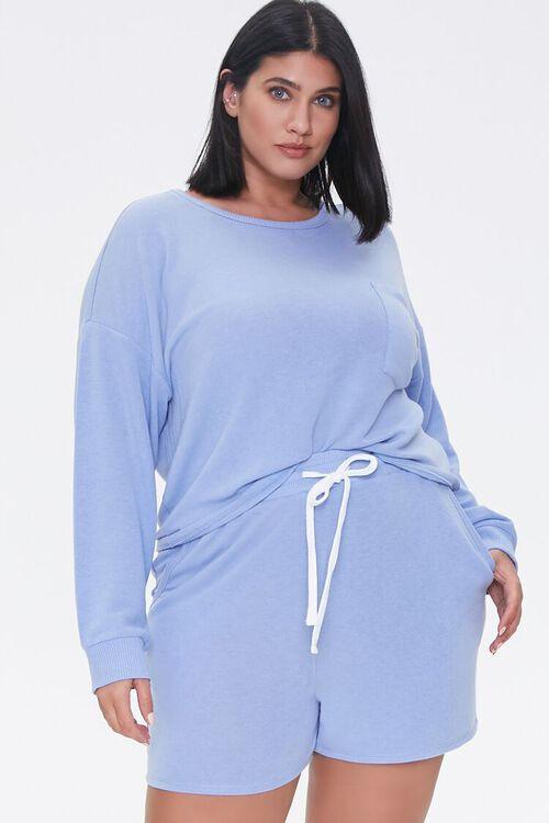 Plus Size Pullover & Shorts Set, image 1