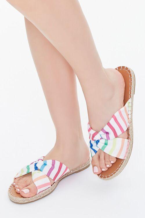 Rainbow Striped Sandals, image 1