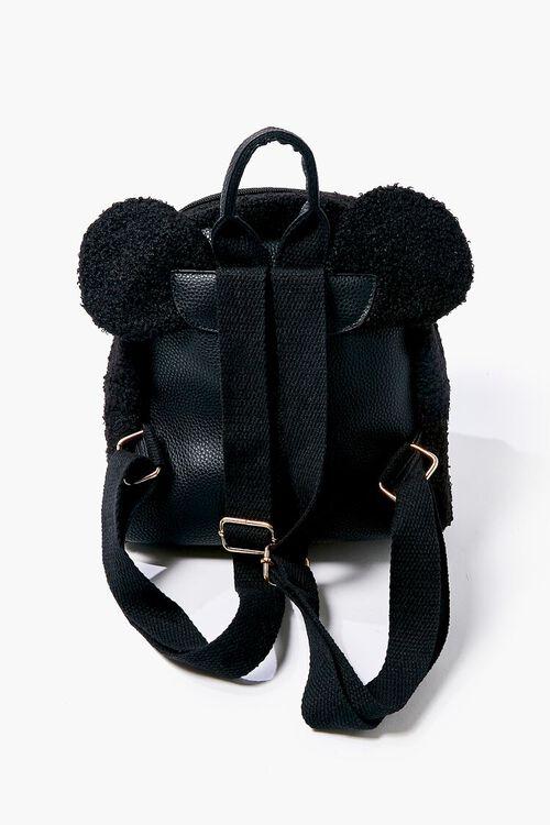 Faux Shearling Bear Backpack, image 3