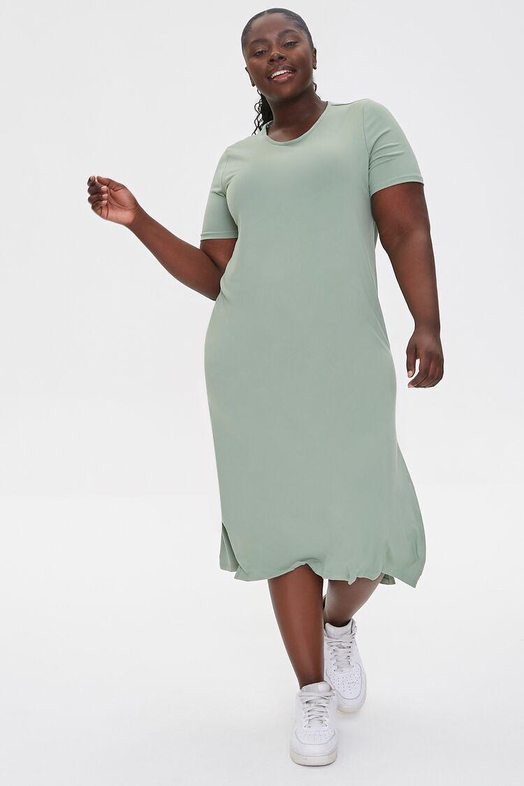 Plus Size Midi T-Shirt Dress