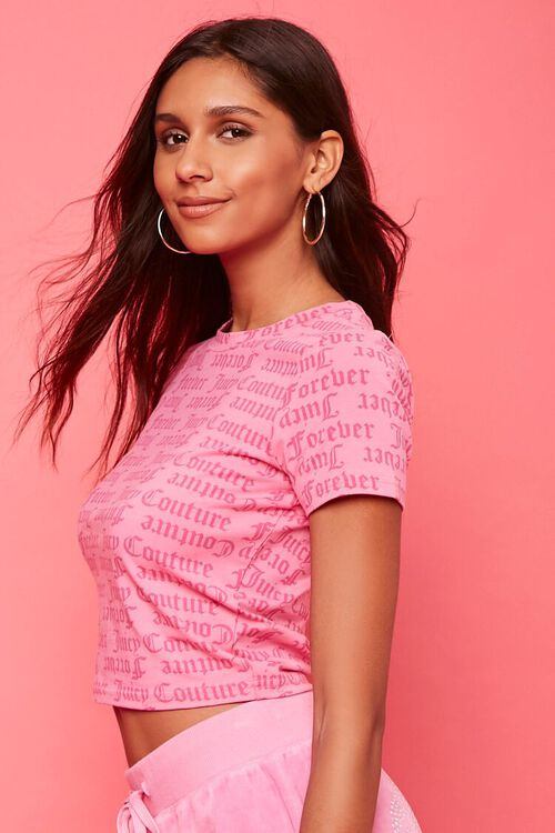 PINK/MULTI Juicy Couture Graphic Tee, image 2