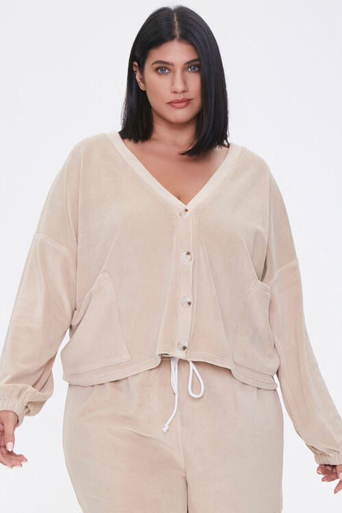 Plus Size Cardigan & Shorts Set, image 5