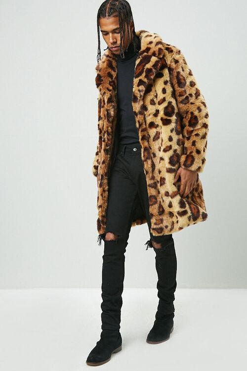 Leopard Print Faux Fur Coat, image 4