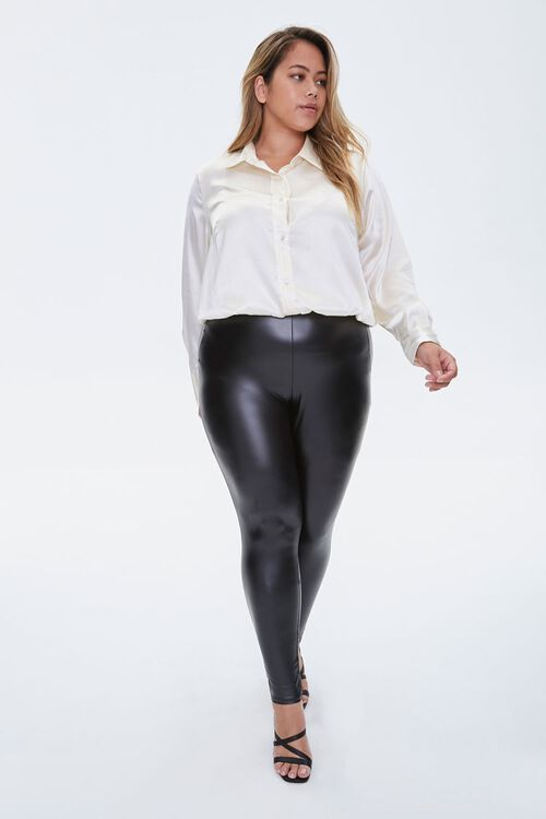 Plus Size Satin Shirt, image 4