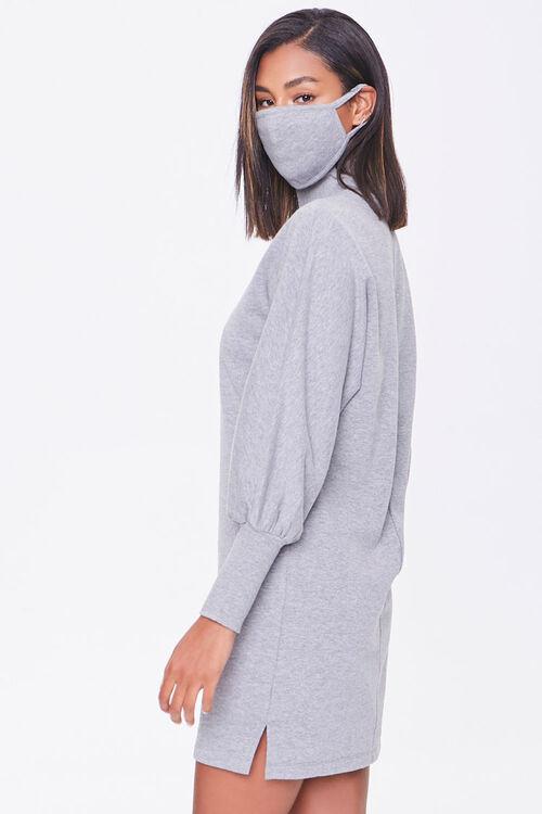 Mock Neck Dress & Face Mask Set, image 2
