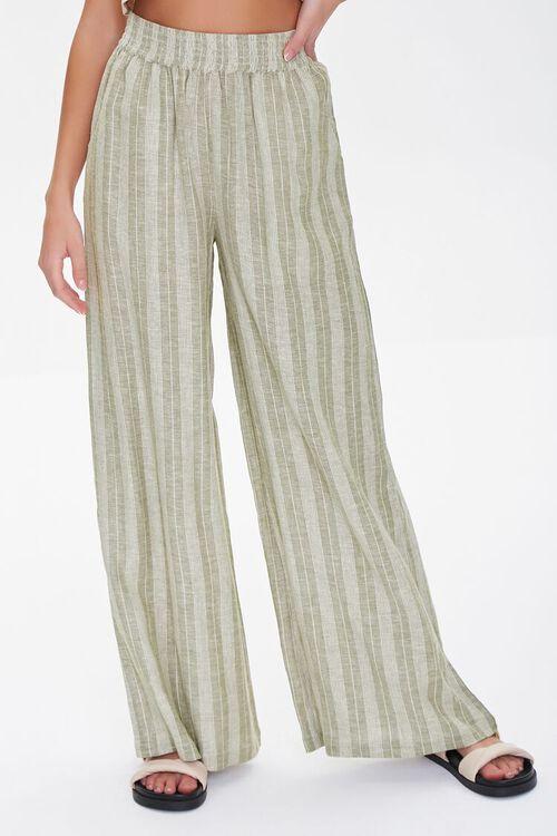Striped Linen-Blend Pants, image 2
