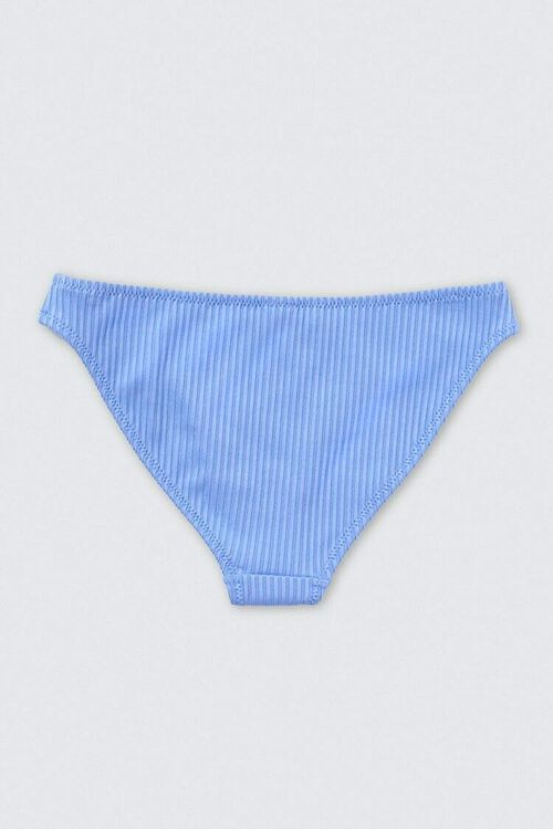 BLUE Ribbed Knit Bikini Bottoms, image 2