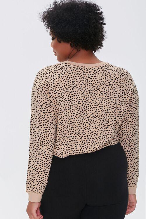 Plus Size Active Cheetah Print Top, image 3