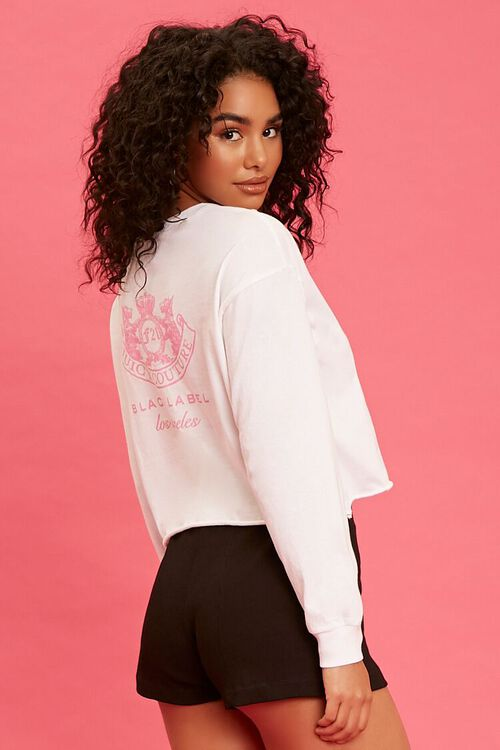 WHITE/PINK Juicy Couture Graphic Top, image 2