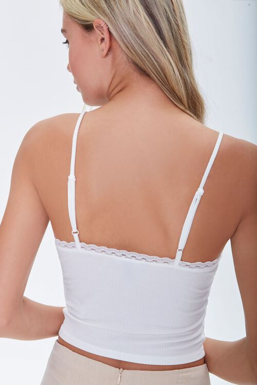 WHITE Lace-Trim Sweetheart Cami, image 4