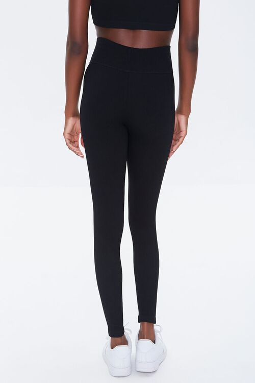 BLACK Active Seamless Notched Leggings, image 4