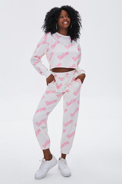 WHITE/PINK Fleece Barbie™ Pullover, image 4
