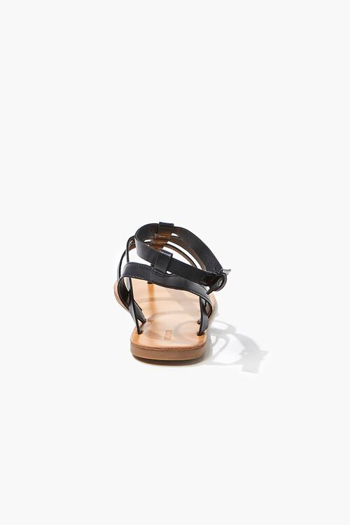 Caged Ankle-Strap Flat Sandals, image 3