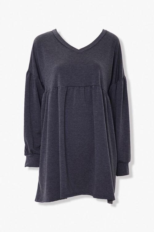 Shirred Shift Mini Dress, image 1