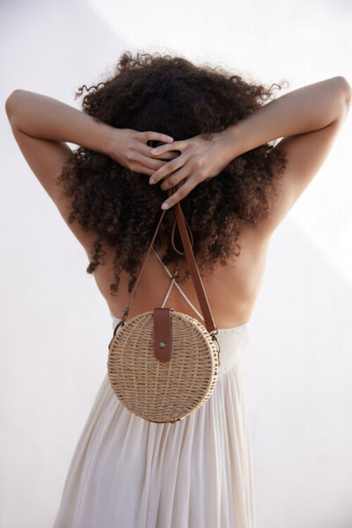 Basket-Woven Crossbody Bag, image 1