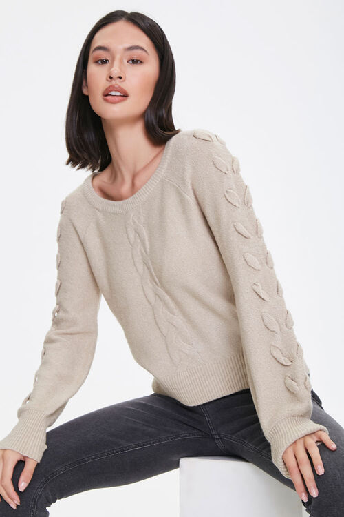 Lace-Up Sleeve Sweater, image 1