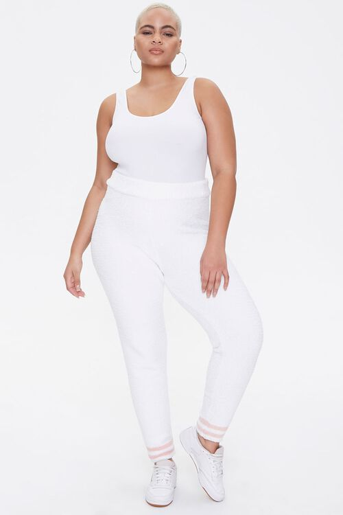 Plus Size Sweater-Knit Striped Joggers, image 5