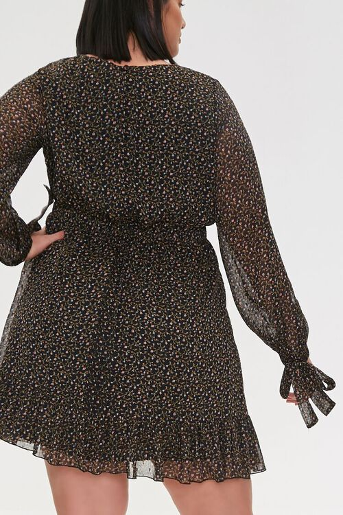 Plus Size Chiffon Ditsy Floral Dress, image 4