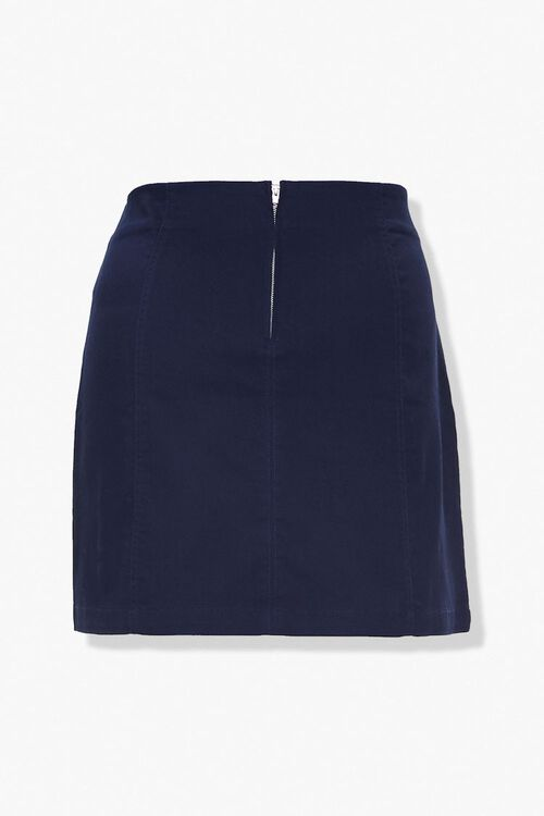 Plus Size Vented Mini Skirt, image 3