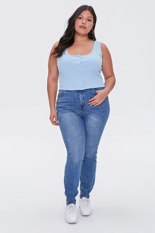 Plus Size Cropped Tank Top, image 4