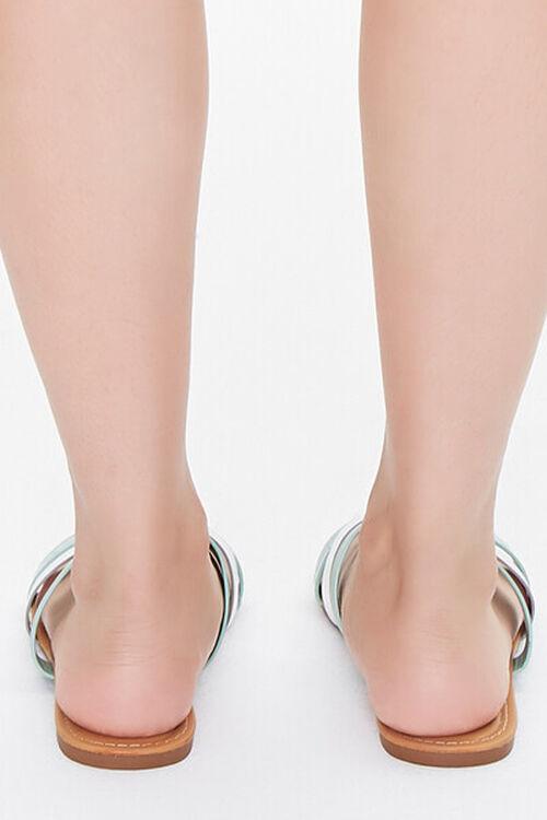 Metallic-Strap Flat Sandals, image 3