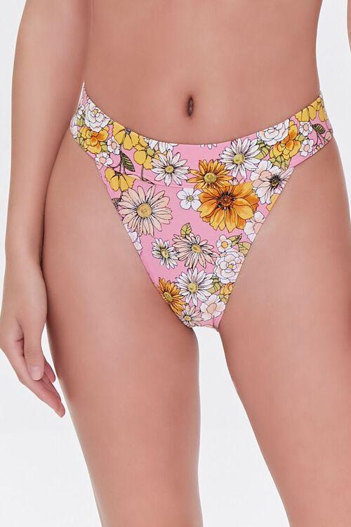 Floral High-Waist Bikini Bottoms, image 2
