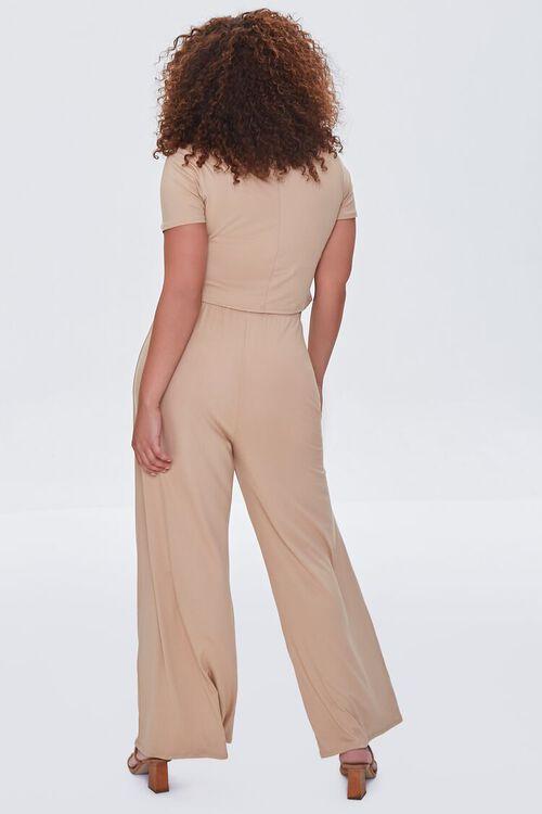 Plus Size Cropped Tee & Wide-Leg Pants Set, image 3