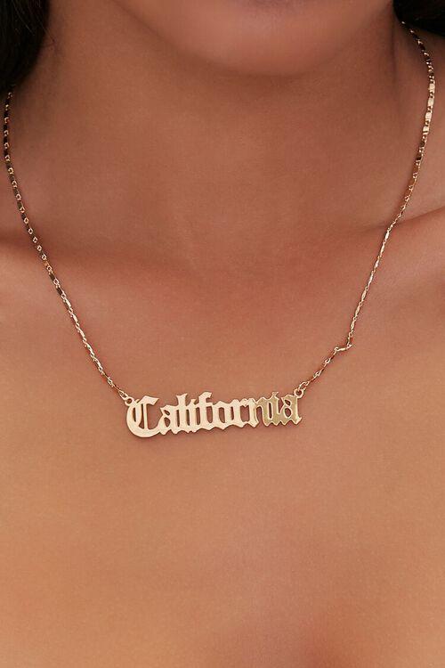 California Text Pendant Necklace, image 1