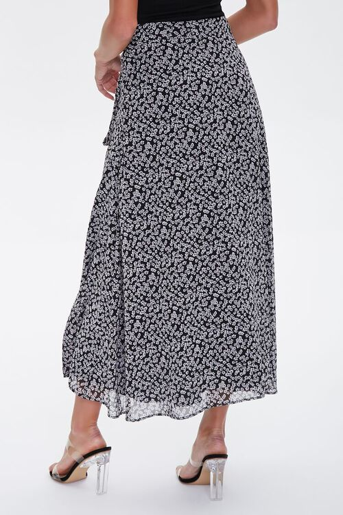 Floral Tie-Waist Midi Skirt, image 3