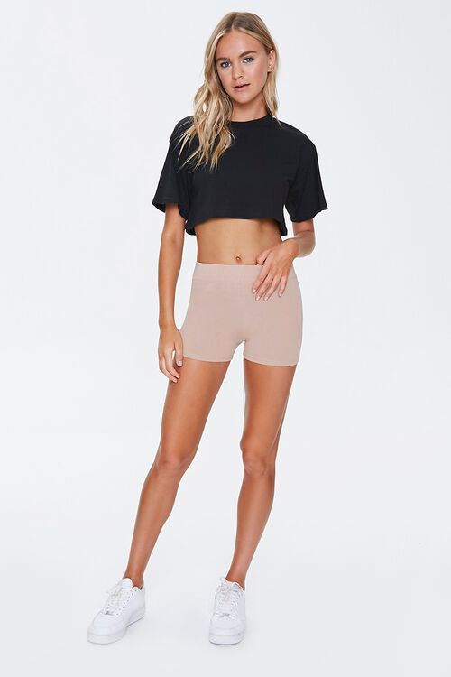 Basic Cotton-Blend Bike Shorts, image 4
