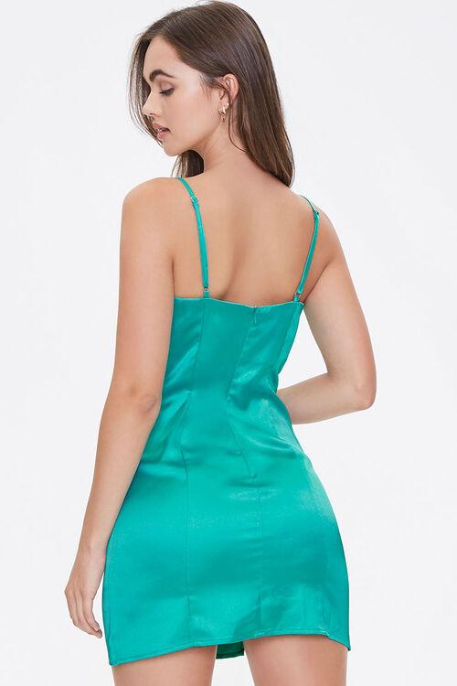 Satin M-Slit Mini Dress, image 3